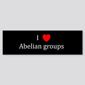 I Heart Abelian groups Bumper Sticker