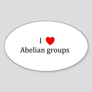 I Heart Abelian groups Oval Sticker