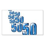50 Rectangle Sticker 10 pk)