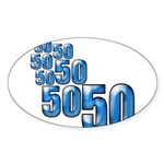 50 Oval Sticker (50 pk)