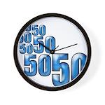 50 Wall Clock