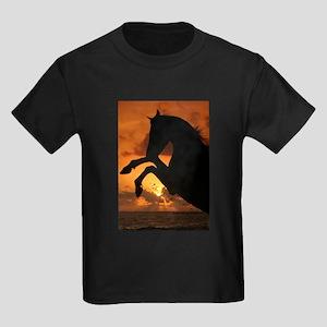 Sunset Rearing Arabian Kids Dark T-Shirt
