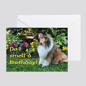 I Smell a Birthday Sheltie Card