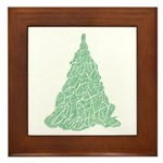 Scribble Tree Framed Tile