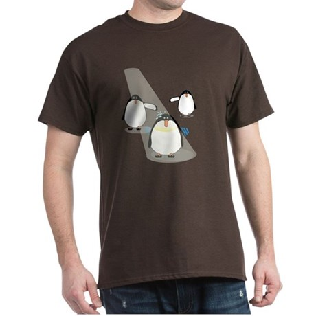 Penguin in Spotlight Dark T-Shirt