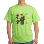 Geisha Corgi Green T-Shirt