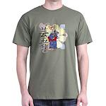 Geisha Corgi Dark T-Shirt