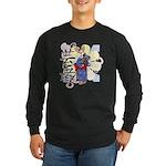 Geisha Corgi Long Sleeve Dark T-Shirt