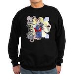 Geisha Corgi Sweatshirt (dark)