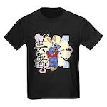 Geisha Corgi Kids Dark T-Shirt