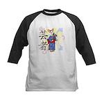 Geisha Corgi Kids Baseball Jersey