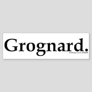 Grognard Bumper Sticker