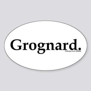 Grognard Oval Sticker