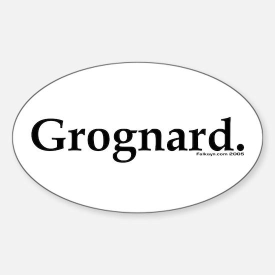 Grognard Oval Decal