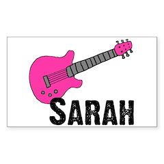Guitar - Sarah Rectangle Decal