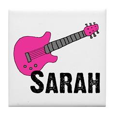 Guitar - Sarah Tile Coaster