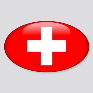 Switzerland Oval Sticker