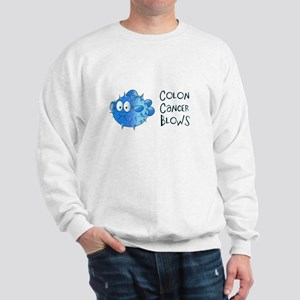 Colon Cancer Blows Sweatshirt