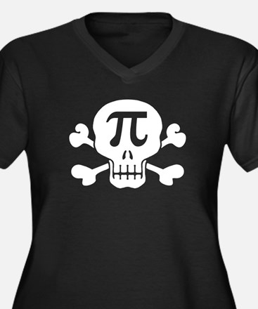 Pi Rate Women's Plus Size V-Neck Dark T-Shirt