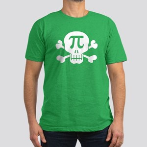 Pi Rate Men's Fitted T-Shirt (dark)