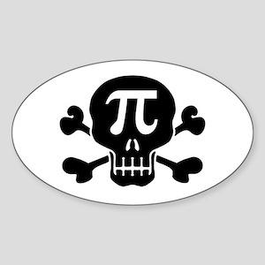 Pi Rate Oval Sticker