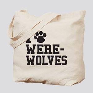 I Love Werewolves Tote Bag