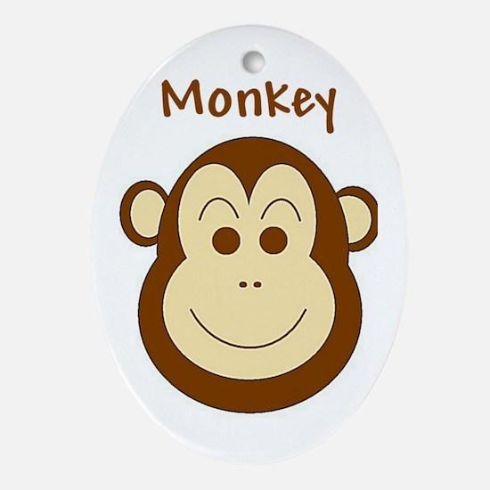 Monkey Oval Ornament