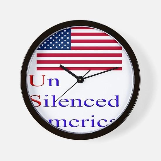 Un Silenced American Wall Clock