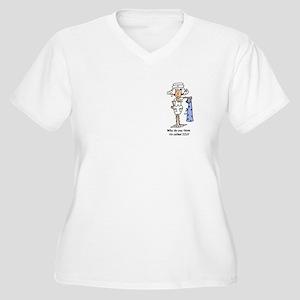 Funny Nurse Three Women's Plus Size V-Neck T-Shirt