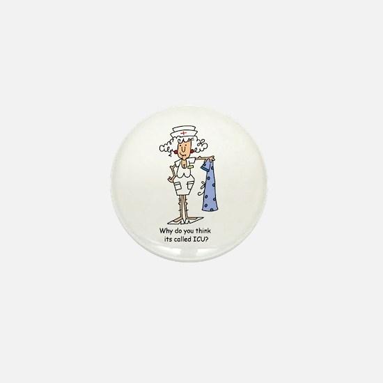 Funny Nurse Three Mini Button