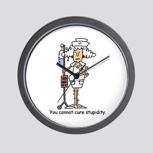 Funny Nurse Four Wall Clock