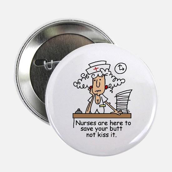 """Funny Nurse Six 2.25"""" Button"""