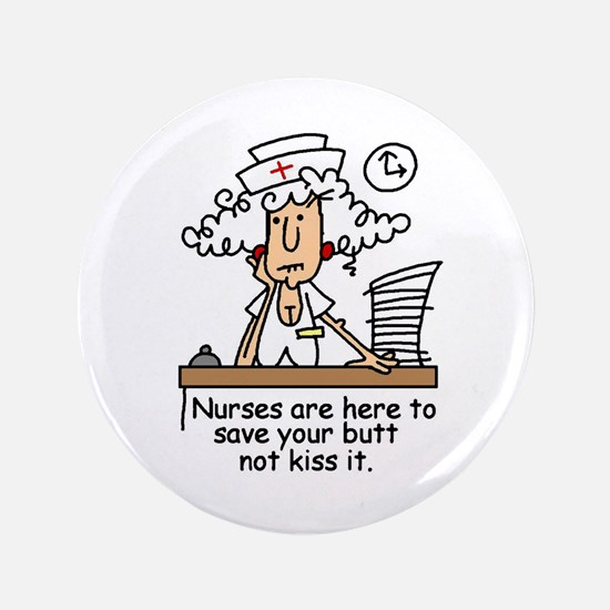 """Funny Nurse Six 3.5"""" Button"""