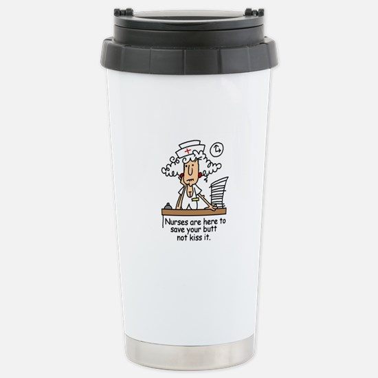 Funny Nurse Six Stainless Steel Travel Mug