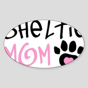 SHELTIE Oval Sticker