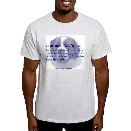 Courage--Saint Bernard Ash Grey T-Shirt