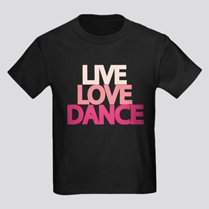 Live Love Dance Kids Dark T-Shirt