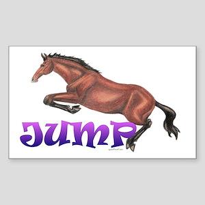 """JUMP"" Hunter/Jumper Sticker"