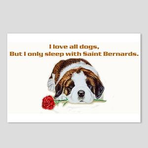 Sleep with Saint Bernards Postcards (Package of 8)