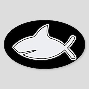 atheist shark Oval Sticker