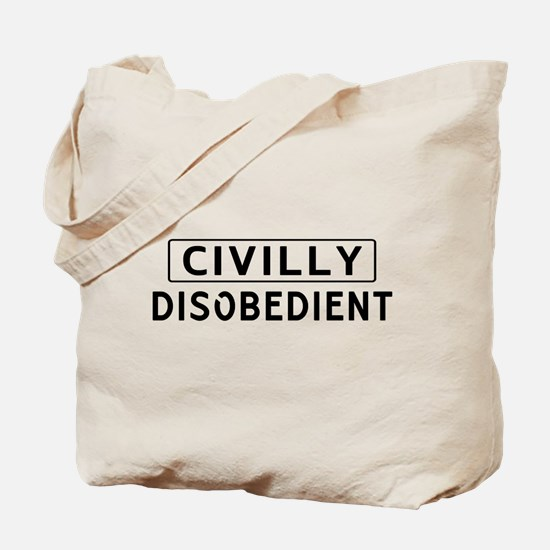 Civily Disobedient Tote Bag