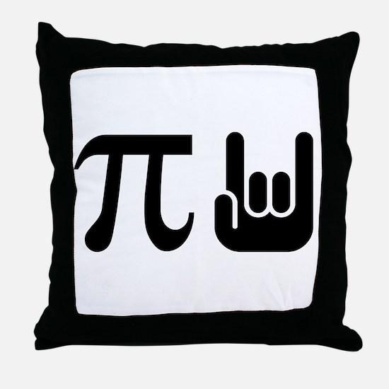 Pi Rocks Throw Pillow