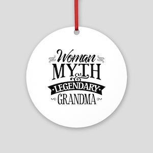 Legendary Grandma Round Ornament