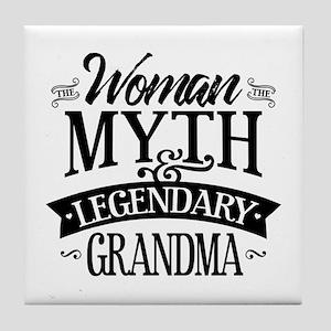 Legendary Grandma Tile Coaster