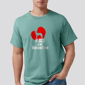 My Borzoi is My Valentine Funny Boxer Vale T-Shirt