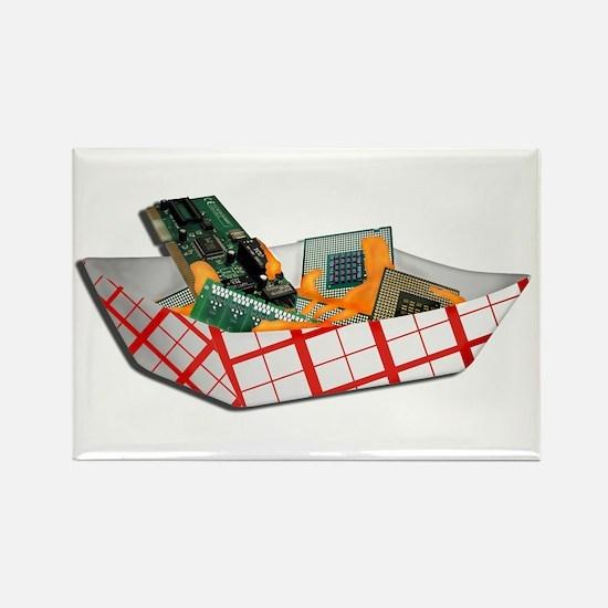 Nacho Chip Rectangle Magnet