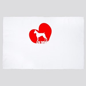 My Boxer is My Valentine Funny Boxer V 4' x 6' Rug
