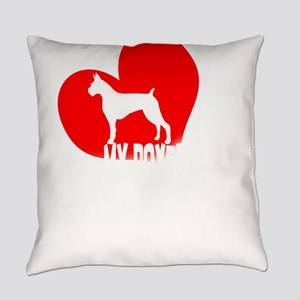 My Boxer is My Valentine Funny Box Everyday Pillow