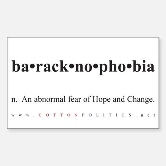 Baracknophobia Small Rectangle Decal