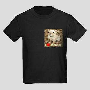 I Love Dogs Kids Dark T-Shirt